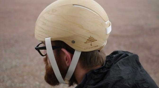 Cellutech har tagit fram en cykelhjälm som är helt baserat på material från skogen