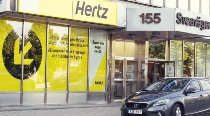 Hertz öppnar ett helt automatiserat kontor
