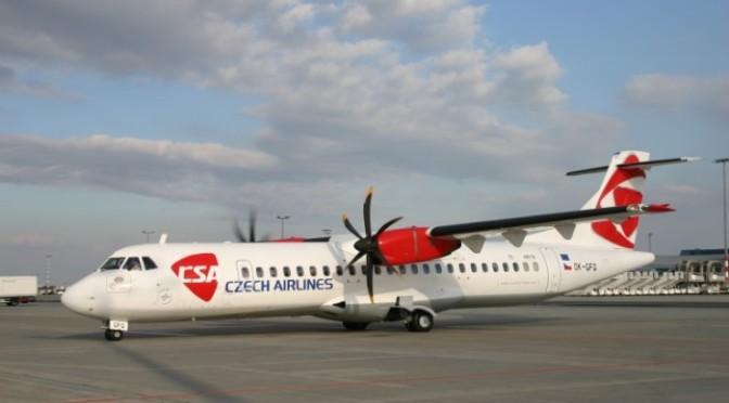 Det tjeckiska flygbolaget Czech Airlines är tillbaka för att trafikera sträckan Växjö-Prag.